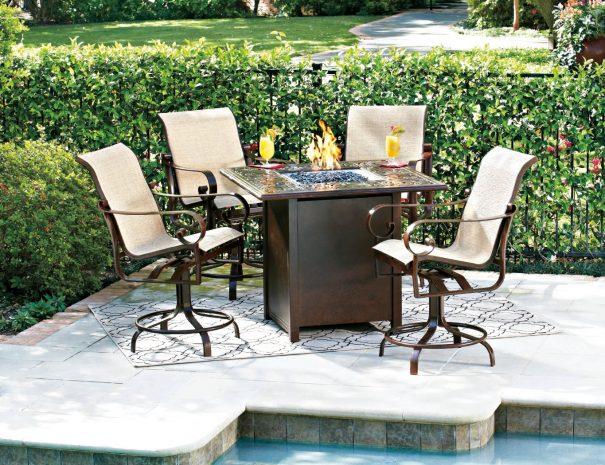 Woodard Sling Patio Furniture.Beldin Sling High Dining Labadies Patio Furniture Accessories
